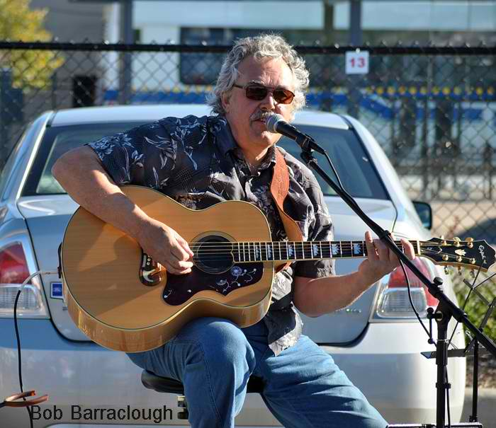 Bob Barraclough busker for the day!